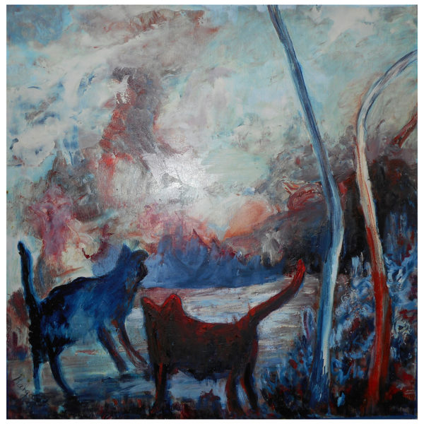 Cats in sunset 60x60