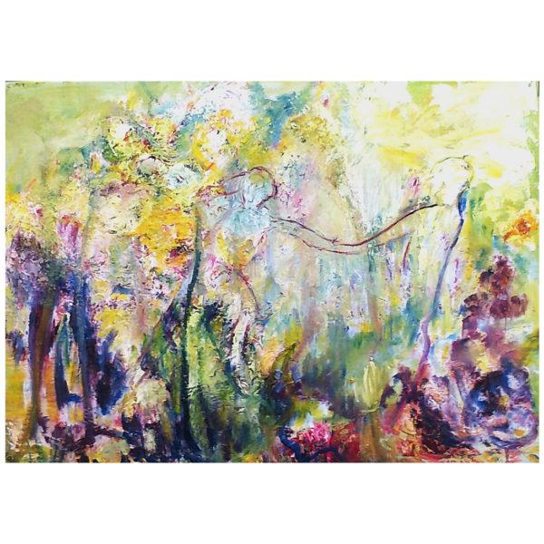 Les amants en fleur 50x70