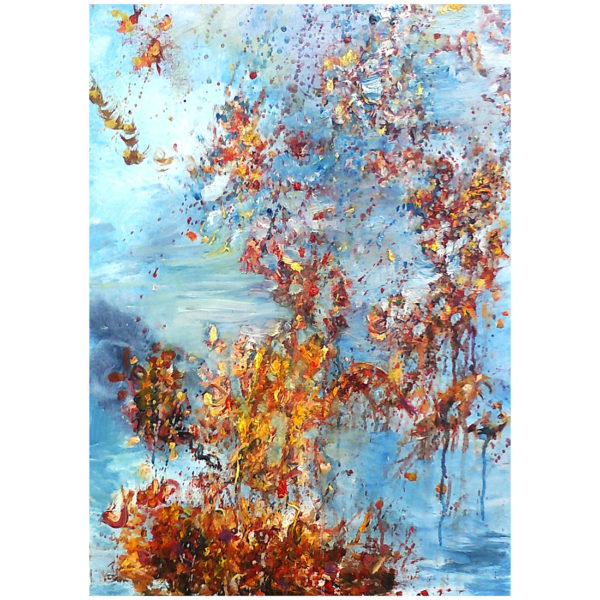 Autumn Blue Sky 70x50