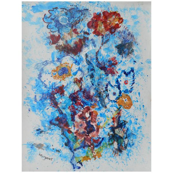 Fleurs bleues 40x30