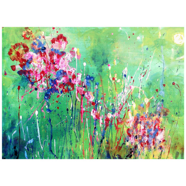 Flowers on Green 50x70