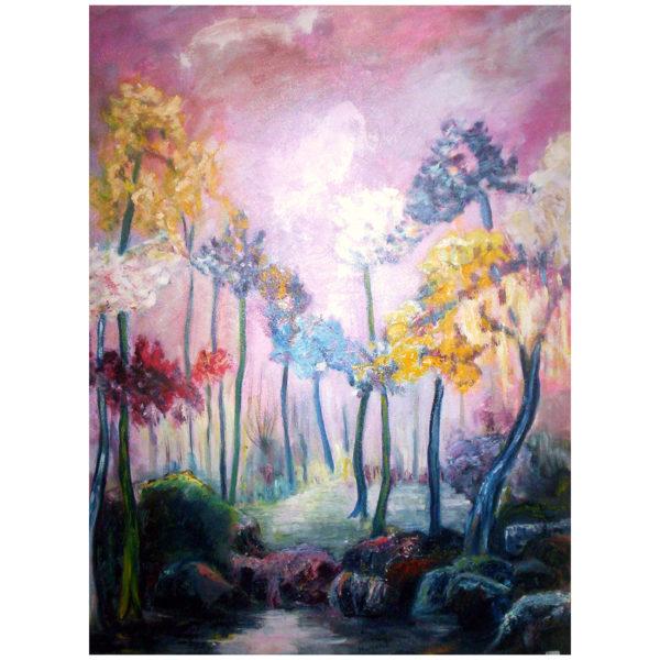 La forêt au printemps 90x70