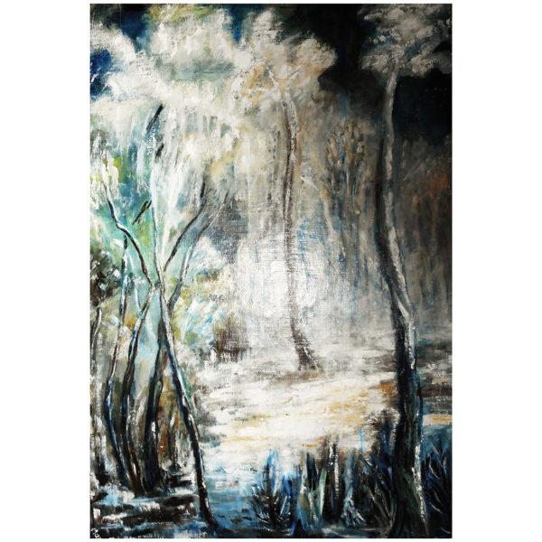La forêt en hiver 80x60