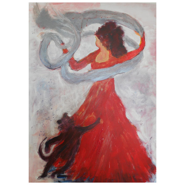 Lady In Red 70x50