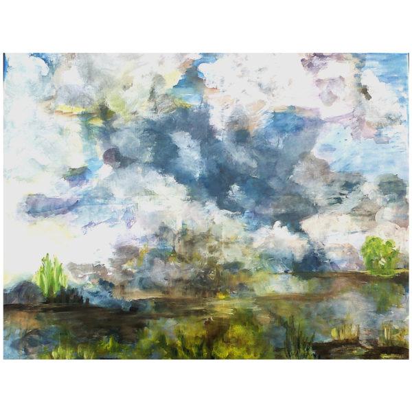 Reflets et nuages 70x90