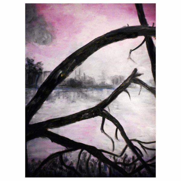 Broken Willow 60x50 cm