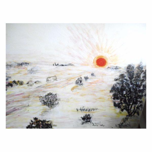 White Heat 50x70 cm